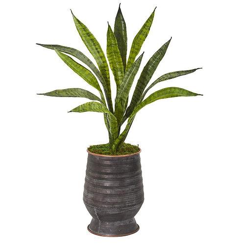 "24""  Sansevieria Artificial Plant in Decorative Planter"