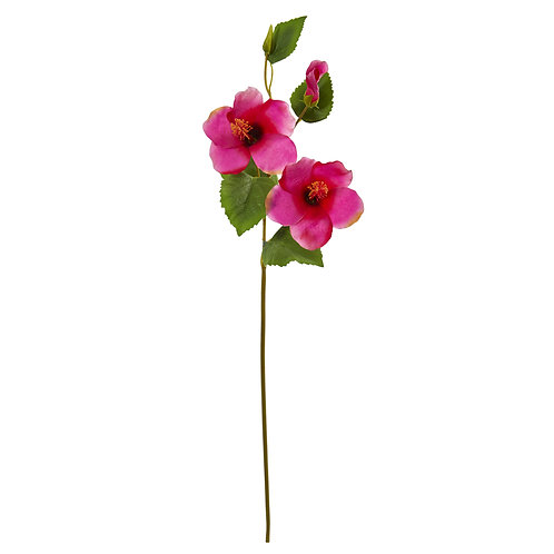 "28"" Hibiscus Artificial Flower (Set of 12)"