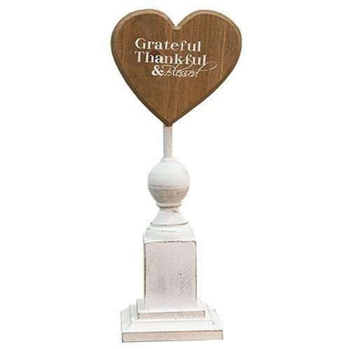 "Pack of 2 *Grateful & Thankful Pedestal - 11"""