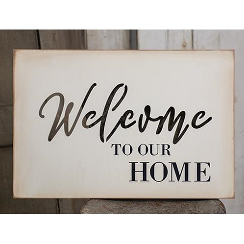 Welcome Cutout Wood Sign