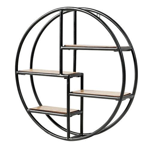 Hanging Storage Shelf Circular Wall-Mounted 4-Tier Rack