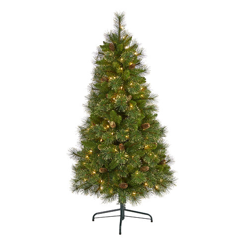 5' Golden Tip Washington Pine Artificial Christmas Tree with 150 Clear Lights
