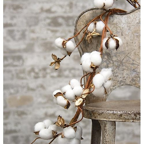 *Cotton Ball Garland 5ft