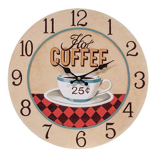 *Hot Coffee 25� Clock