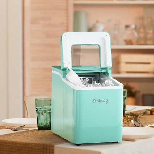 Portable Countertop Ice Maker Machine with Scoop-Green