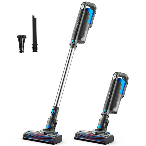 Handheld Stick Vacuum Cleaner with Detachable Battery & Filtration-Blue