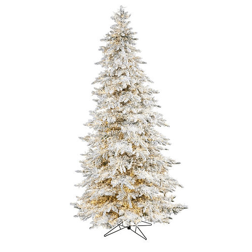 9' Flocked Grand Northern Rocky Fir Artificial Christmas Tree