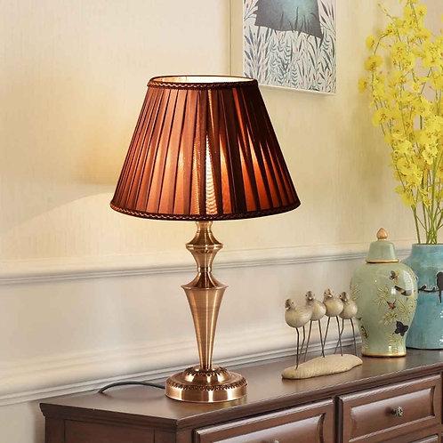 "13"" Antique Brass  Bedroom LED Bulb  Table Lamp"
