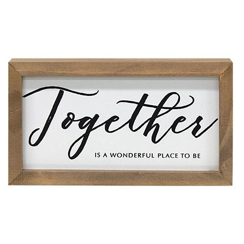 Pack of 2 Together Framed Box Sign