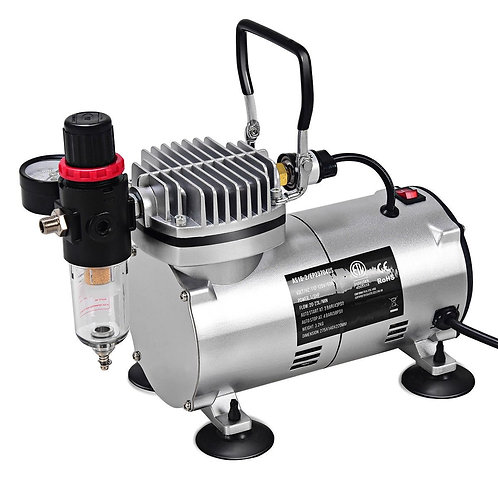 3 Compressor Kit Dual-Action Spray Air Brush Set