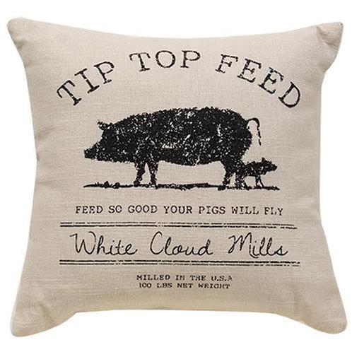 Tip Top Feed Farmhouse Pillow