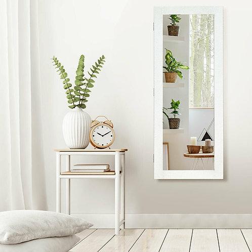 Wall Mounted Mirrored Storage Jewelry Cabinet