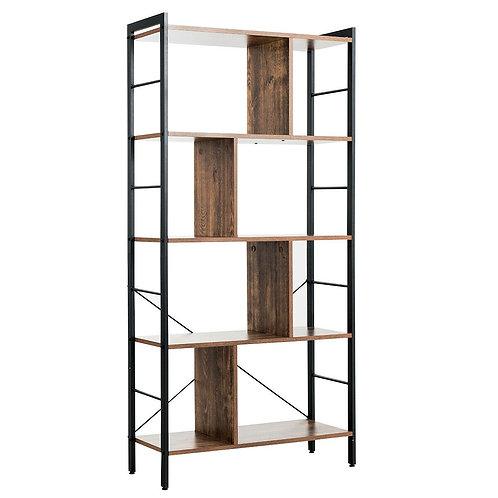 4-Tier Industrial Bookshelf Floor Standing Storage Rack Large Storage