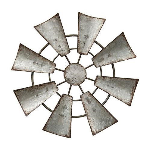 Galvanized Metal Hanging Windmill 7 inch