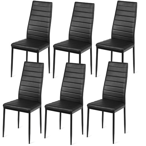Set of 2 or 6 High Back Dining Chairs-Set of 6
