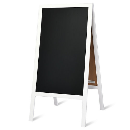 A-Frame Chalkboard Sign with Eraser & Chalk-White