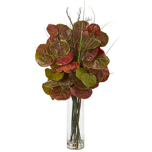 "44""  Sea Grape Artificial Arrangement in Vase"