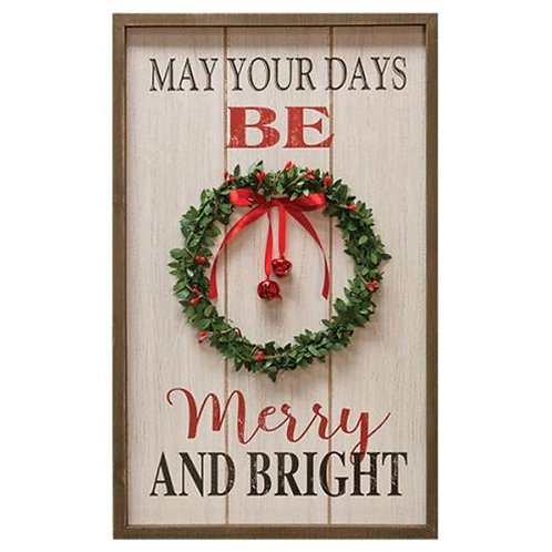 *Merry & Bright Wreath Sign