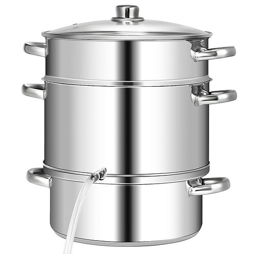 10 Quart Stainless Steel Fruit Juicer Steamer Multipot