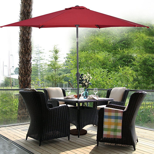 Hanging Umbrella Patio Sun Shade Offset Outdoor Market W/T Cross Base-Burgundy