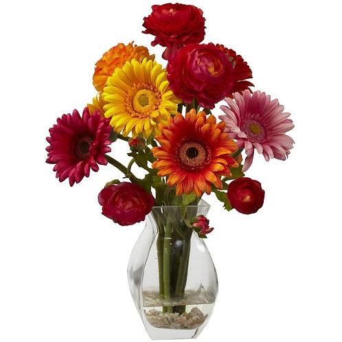 Gerber Daisy & Ranunculus Delight Arrangement