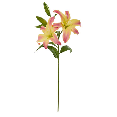 "31"" Rubrum Lily Artificial Flower (Set of 3)"