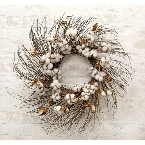 *Cotton Branch Wreath 24""