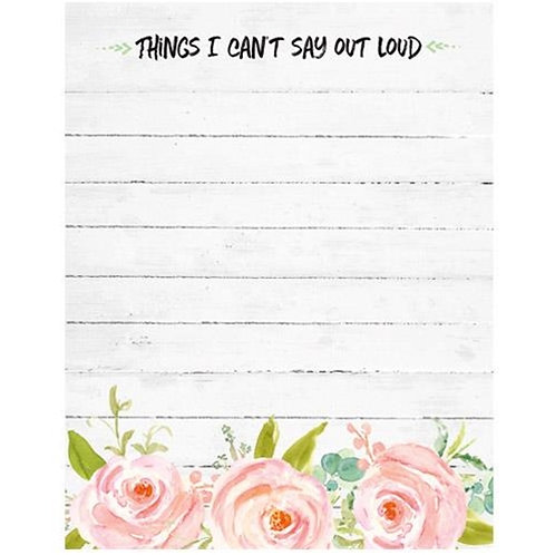 Can't Say Out Loud Mini Notepad