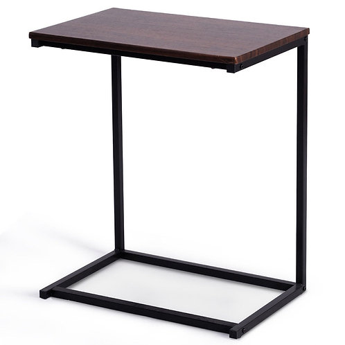 """26"""" Beside Sofa Laptop Holder End Stand Desk-Coffee"""