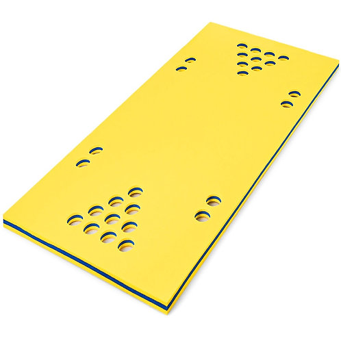 """5.5' x 35.5"""" 3-Layer Multi-Purpose Floating Beer Pong Table-Yellow"""