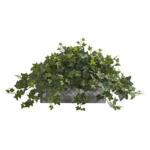 Puff Ivy Artificial Plant in Stone Planter