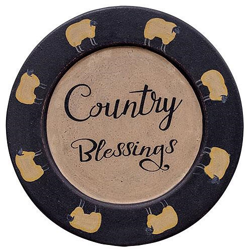 *Country Blessings Sheep Plate