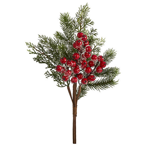 "20"" Iced Pine and Berries Artificial Plant (Set of 6)"