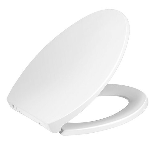 Elongated Slow-Close Toilet Seat with Non-Slip Seat