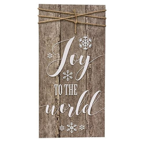 Pack of 2 Joy to the World Sign