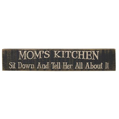 Pack of 2 Mom's Kitchen Sign