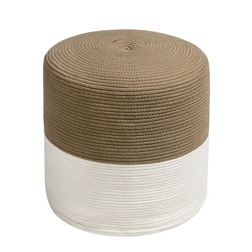 Pouf Ottoman Round for Sitting Braided Pouf with Jute Cover