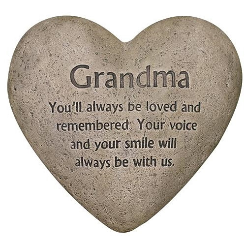 Pack of 2 Grandma Cement Heart Memorial