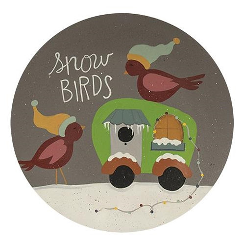 *Snow Birds Camper Plate