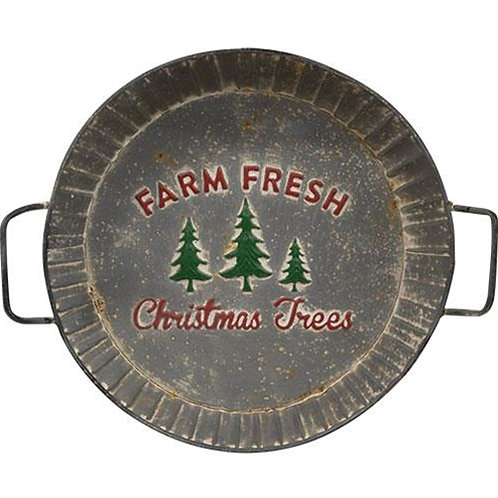 *Farm Fresh Trees Metal Tray