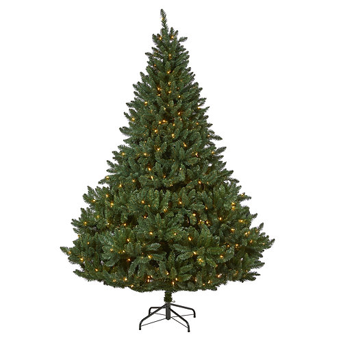8' Northern Rocky Spruce Artificial Christmas Tree with 500 Clear Lights
