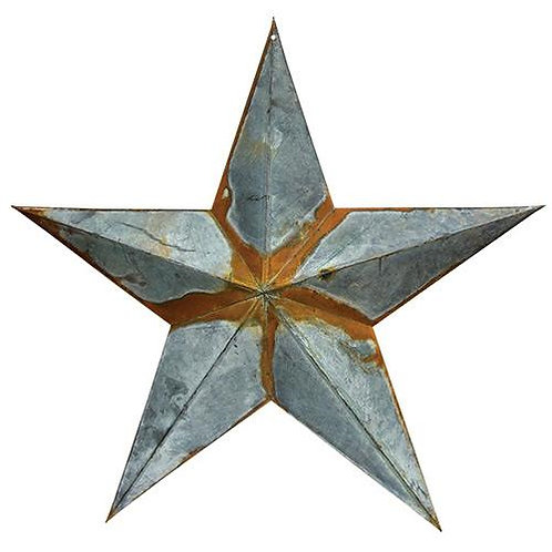 Rusty/Galvanized Star 24""