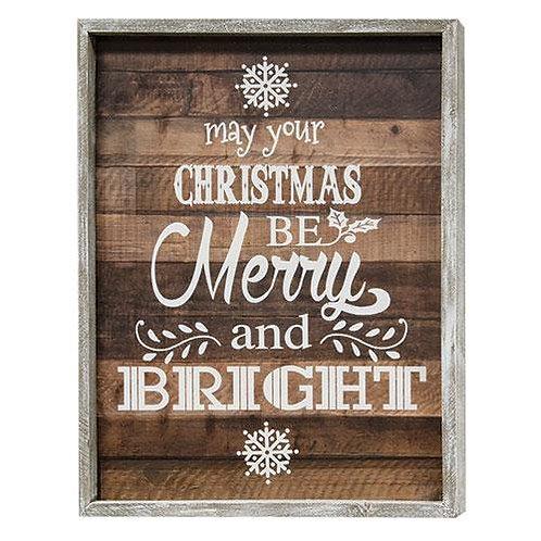 *Merry & Bright Framed Sign
