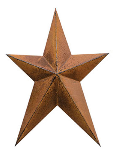 """Pack of 4 Rust & Black Finish Whimsy Star 12"""""""
