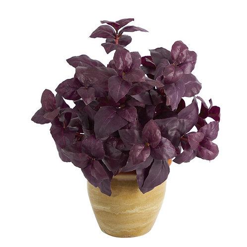 "12"" Basil Artificial Plant in Ceramic Planter"