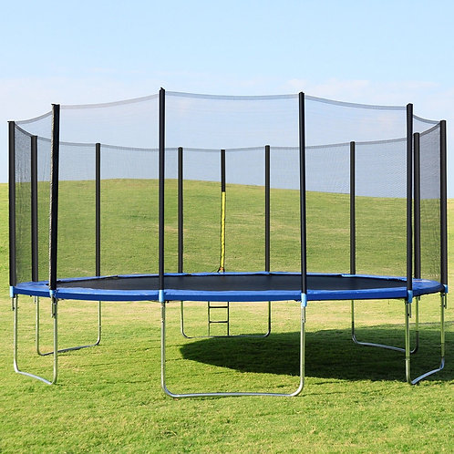 16' Trampoline Combo with Safety Enclosure Net Spring Pad & Ladder