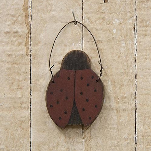 Pack of 4 Wooden Ladybug Ornament