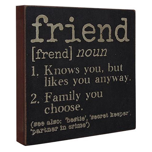 Pack of 4 Friend Definition Sign