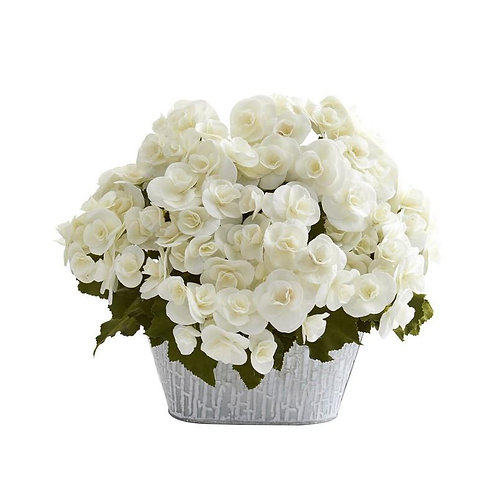 Begonia Artificial Arrangement in Decorative Planter