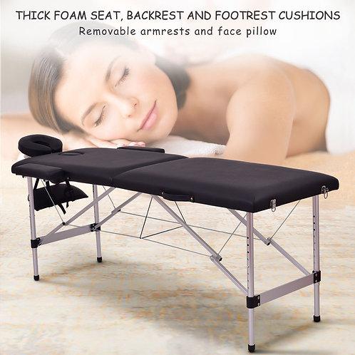 "72""L Portable Massage Table w/ Free Carry Case-Black"